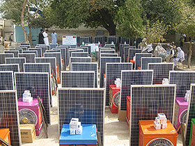 600 Solar Home Systems for Helmand donated by the Crown Prince of UAE in 2013