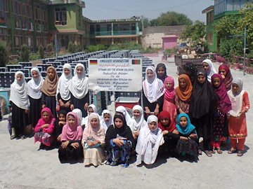 195 Solar Home Systems for teachers of the Bibi Hawa Girls High School in Jalalalabad
