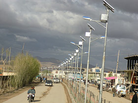 Solar Power LED Street Light for Ghor