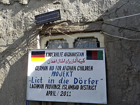 "Licht in die Dörfer"", an aid project from German Aid for Afghan Children"